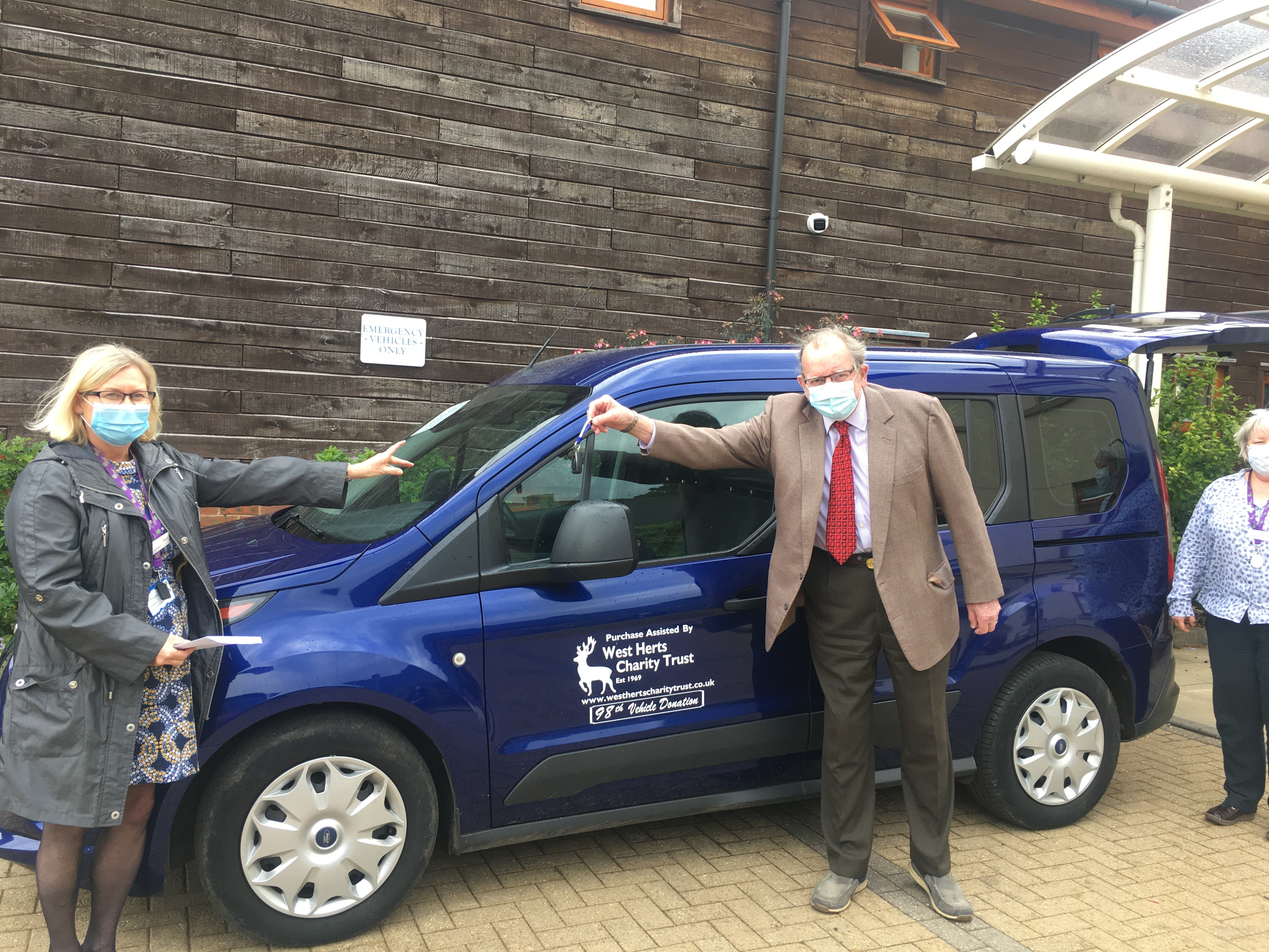 98th vehicle presentation to Hospice of St Francis June  2020